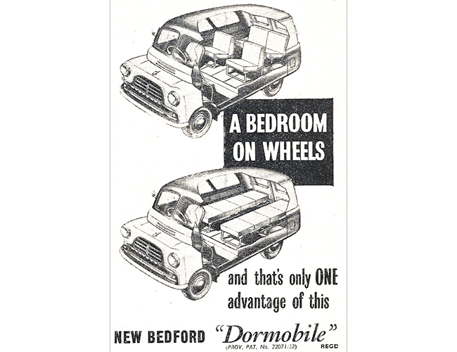 1952 – 1955. The Bedroom on Wheels